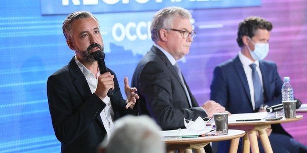Antoine Maurice, tête de liste EELV aux élections régionales d'Occitanie, lors du débat organisé par La Tribune, mardi 1er juin à Toulouse.