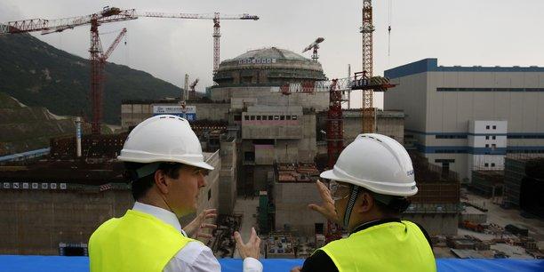 La centrale de Taishan dans le sud de la Chine, en construction sur la photo, est composée de deux EPR, respectivement mis en service en décembre 2018 et en septembre 2019.