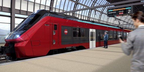 Les 100 trains électriques baptisés Fremtidens Tog (trains du futur), qui seront fabriqués dans l'usine d'Alstom à Salzgitter en Allemagne, doivent être livrés entre fin 2024 et 2029.