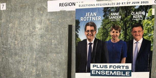 Jean Rottner est arrivé en tête au premier tour des élections dans le Grand-Est, marqué par un niveau d'abstention record.