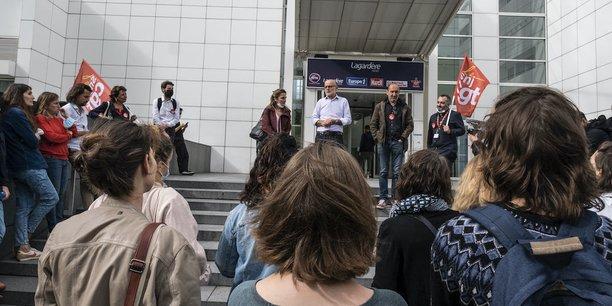 Des salariés d'Europe 1 en grève, ce lundi.