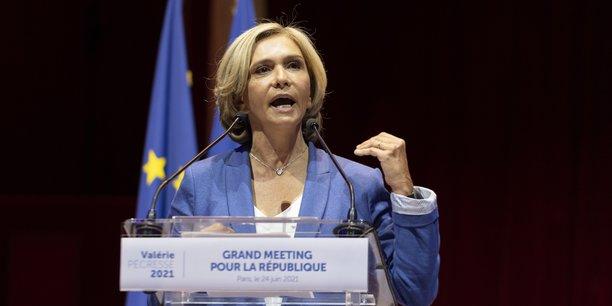 Valérie Pécresse, en meeting jeudi 24 juin, au Cirque d'Hiver à Paris.
