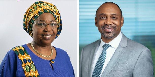 Professeure Awa-Marie Coll Seck, ministre d'Etat au sein du gouvernement de la République du Sénégal & Dr Abdourahmane Diallo, directeur général du Partenariat RBM pour en finir avec le paludisme.