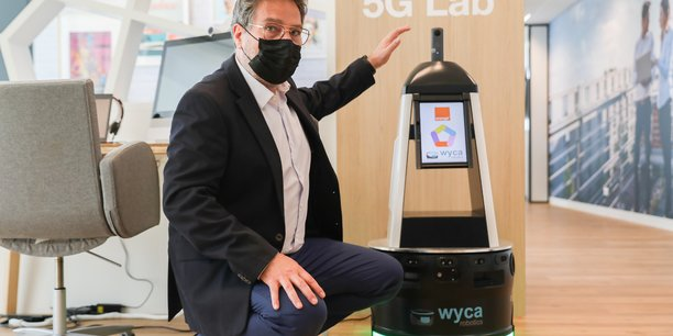 L'entreprise Wyca et son dirigeant Patrick Dehlinger ont adopté la 5G pour leur nouvelle génération de robots autonomes, développée à Toulouse.