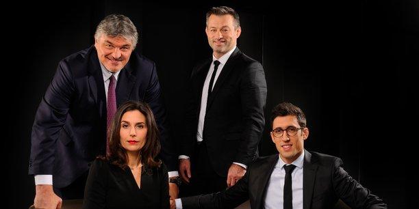 David Douillet, Miriam Annoni, David Inquel et Romaric Gaudemer, les quatre associés du promoteur immobilier bordelais Harvey Family