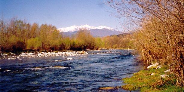 Le fleuve côtier du Tech, à Céret, dans les Pyrénées-Orientales.