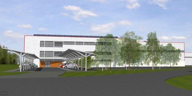 Visuel de la future usine de recyclage de films plastiques souples de Valoregen à Damazan, en Lot-et-Garonne.