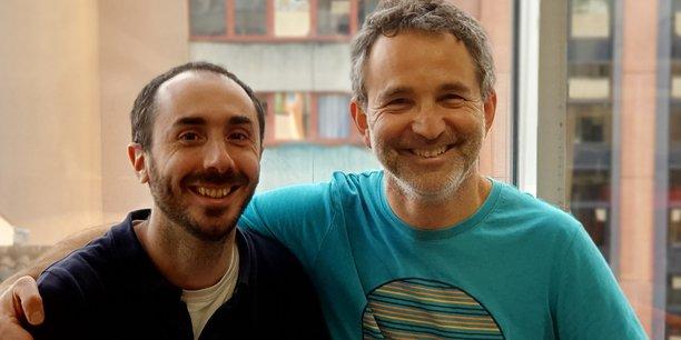 Les cofondateurs de la startup Bleexo, Sylvain Lapendry, directeur technique, et Stéphane Waller, CEO.