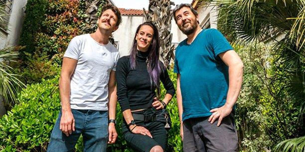 Grégory Jennings, Emma Gérard et Sébastien Chort, les trois piliers de Nobody Studio aujourd'hui, à Montpellier.