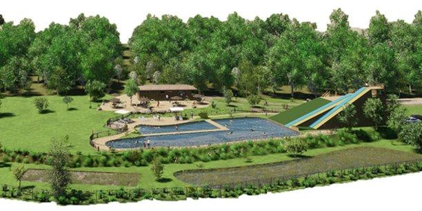 Le projet d'agrandissement du parc sur 2 ha supplémentaires prévoit notamment une zone aquatique ludique avec un bassin naturel de 700 m2.