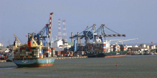 Le terminal à conteneurs du port autonome d'Abidjan.
