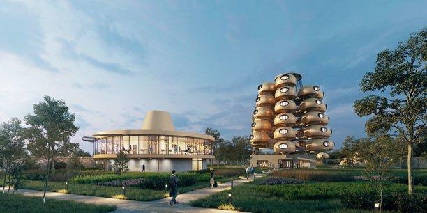 Dessiné par Anthony Rio, de l'agence d'architecte Unité, le concept de l'arbre-hotel L'EssenCiel, est inédit en France. Cette réalisation aux prestations haut-de-gamme, avec vue imprenable sur la verdure depuis l'oculus de chaque chambre, ouvrira au premier semestre 2022.