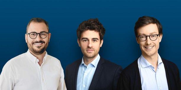 Maxime Doreau, directeur général France de Labelium, Arthur d'Yvoire et Arnaud de Terline, co-fondateurs d'Arcane.