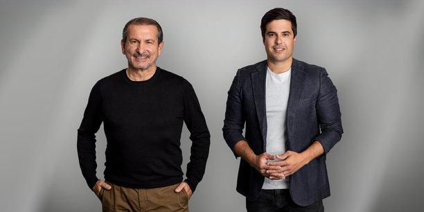 A gauche, le Dr. Roland Folz, CEO de SolarisBank et à droite, le cofondateur et président du conseil de surveillance de la néo-banque, Ramin Niroumand.