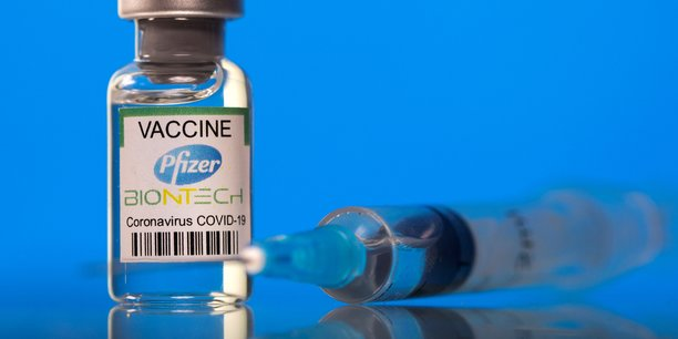 File photo: picture illustration of a vial labelled with the pfizer-biontech coronavirus disease (covid-19) vaccine[reuters.com]
