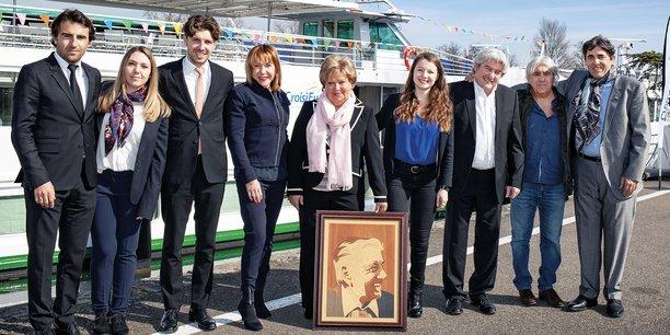 La famille Schmitter, fondatrice de CroisiEurope, réunie entre Lucas Schmitter, à gauche, et Christian Schmitter, à droite.