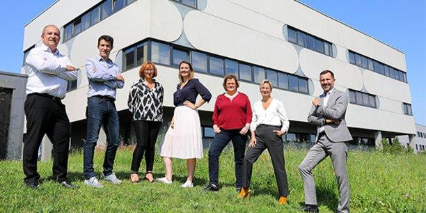 Sept des huit managers actionnaires majoritaires de Logitrade depuis le 28 juillet 2021.