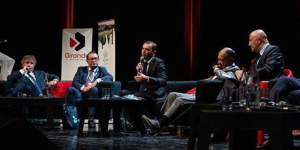 Le ministre Olivier Dussopt, à Cenon près de Bordeaux le 9 septembre 2021, a participé à la table ronde sur la relance économique.