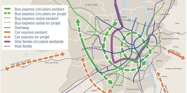 L'heure n'est plus au tramway mais aux cars et bus express dans la métropole bordelaise.