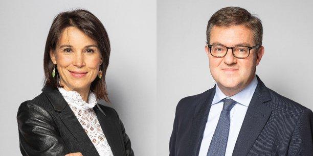 Stéphanie Loizeau, directrice de l'agence Neuflize OBC de Bordeaux, et Fabien Vatinel, directeur de l'ingénierie patrimoniale de Neuflize OBC. (Crédits : Neuflize OCB)