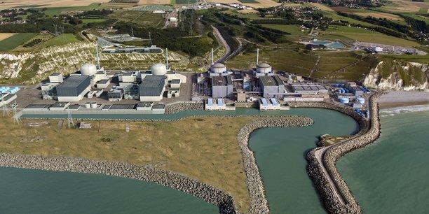 Photo montage de la centrale de Penly après installation de deux réacteurs EPR (sur la gauche)