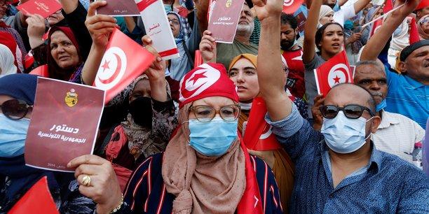 Manifestation a tunis pour demander la demission du president saied[reuters.com]