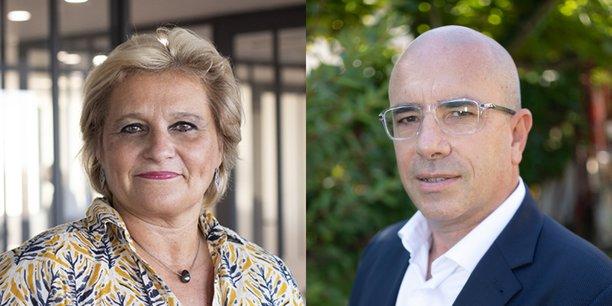 Nathalie Laporte (Fiers d'être artisans) et Gérard Gomez (La Voix des artisans) sont les deux têtes de liste candidates à la Chambre de métiers et d'artisanat régionale de Nouvelle-Aquitaine