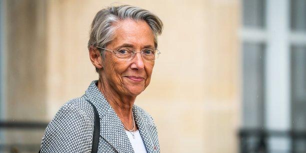 La ministre du Travail, de l'Emploi et de l'Insertion Elisabeth Borne à la sortie du Conseil des ministres le 29 septembre 2021.