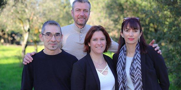 L'équipe de Focus Santé autour du docteur Céline Jardy-Triola, cofondatrice et présidente de l'entreprise.