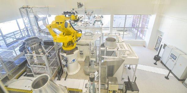 En Aquitaine, ArianeGroup a inauguré en 2018 sa B-line, une ligne d'assemblage dernier cri pour les tuyères du moteur du lanceur Ariane 6.