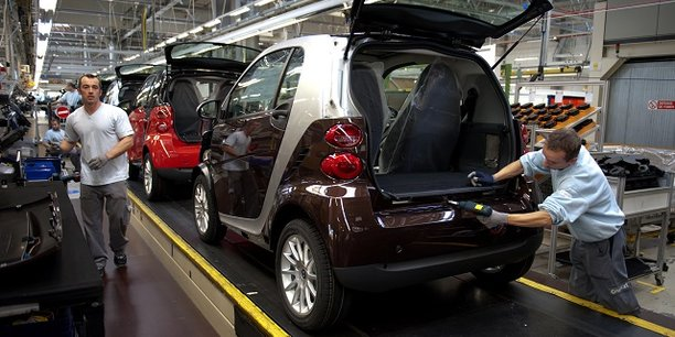 Dans l'industrie automobile, le taux d'utilisation des machines est en chute libre.