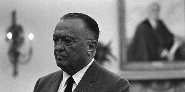 J. Edgar Hoover, alors directeur du FBI, en 1967 à la Maison Blanche.