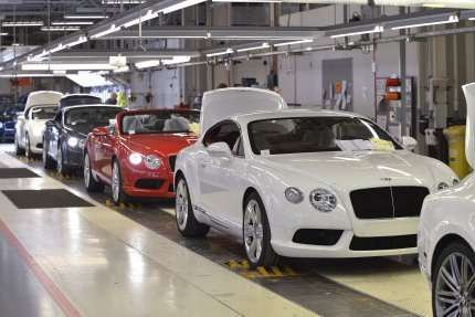 L'usine Bentley à Crewe fabrique une des plus belles gammes de la construction mondiale