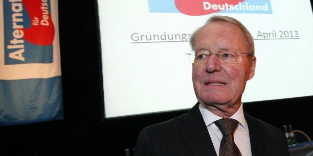 L'ancien patron des patrons allemand Hans-Olaf Henkel sera tête de liste des eurosceptiques allemands