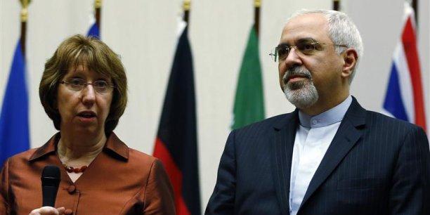 Catherine Ashton a salué ce premier pas important, estimant toutefois qu'il y avait encore du travail pour répondre aux inquiétudes de la communauté internationale