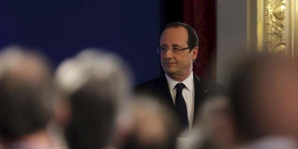 François Hollande tient sa troisième conférence de presse à l'Elysée.