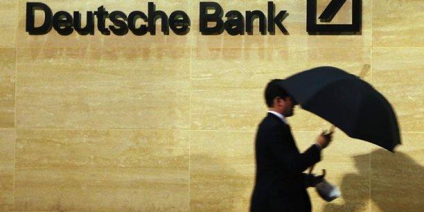Le montant total des opération de la Deutsche Bank aux États-Unis est d'environ 400 milliards de dollars. (Photo : Reuters)