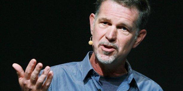Reed Hastings, PDG de Netflix. Netflix, qui commercialise un système de location illimitée de DVD par Internet, est l'une des entreprises citées en exemple pour avoir réussi à s'adaper au monde « Vuca » en monétisant l'accumulation des flux d'informations. / Reuters