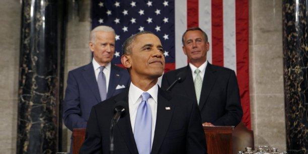 Barack Obama face au Congrès à Washington, le 28 janvier 2014. (Reuters/Larry Downing)