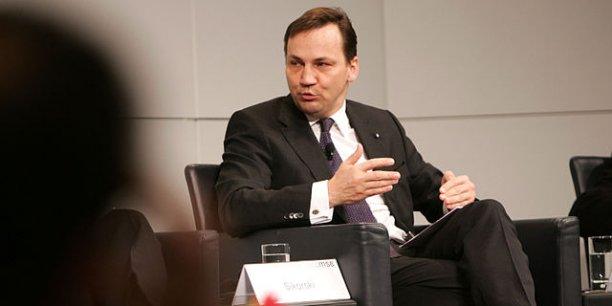 Radoslaw Sikorski, ministre des Affaires étrangères de Pologne./ DR