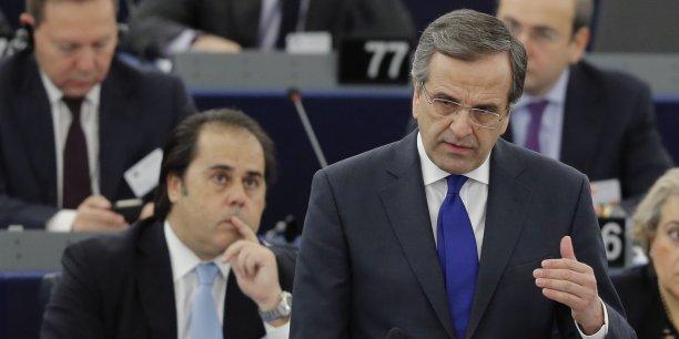 La Grèce atteint déjà ses objectifs avec le deuxième plan d'aide, explique Antonis Samaras, le Premier ministre. (Reuters/Christian Hartmann)