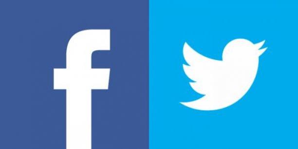 logo twitter et facebook