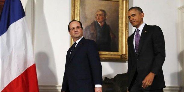 François Hollande et Barack Obama ont mis en garde les entreprises qui prospectent en Iran.
