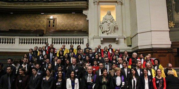 La Chancellerie, dont voici la photo de groupe, est dans le collimateur de la Cour des comptes