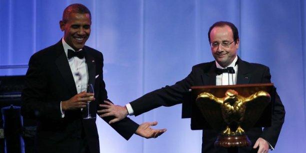 Hollande en VRP aux Etats-Unis. / DR