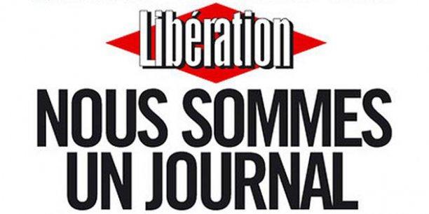 La Une de Libération de l'édition datée de samedi dernier. / DR