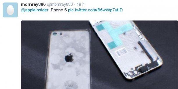 Des prétendues photos du futur iPhone 6 publiées sur un compte Twitter anonyme mettent les fans de la marque à la pomme en émoi.