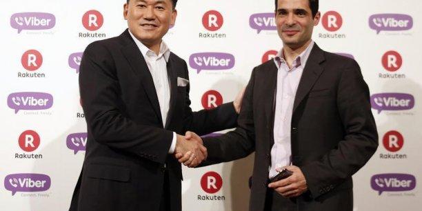 Hirashi Mikitani, le PDG de Rakuten, et Talmin Marco, le fondateur de Viber.