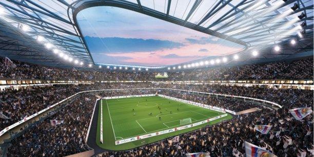 Vue d'architecte du futur stade