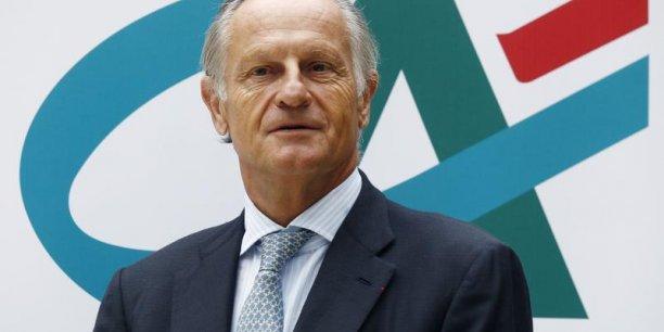 Les résultats du groupe Crédit agricole sont revenus dans le vert en 2013, au prix d'un grand ménage dans ses activités non prioritaires, a expliqué le directeur général, Jean-Paul Chifflet. REUTERS.